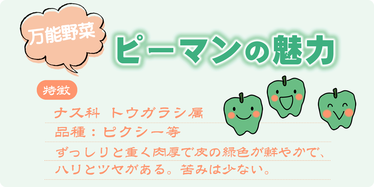 万能野菜 ピーマンの魅力