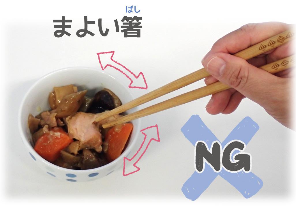【まよい箸】の写真