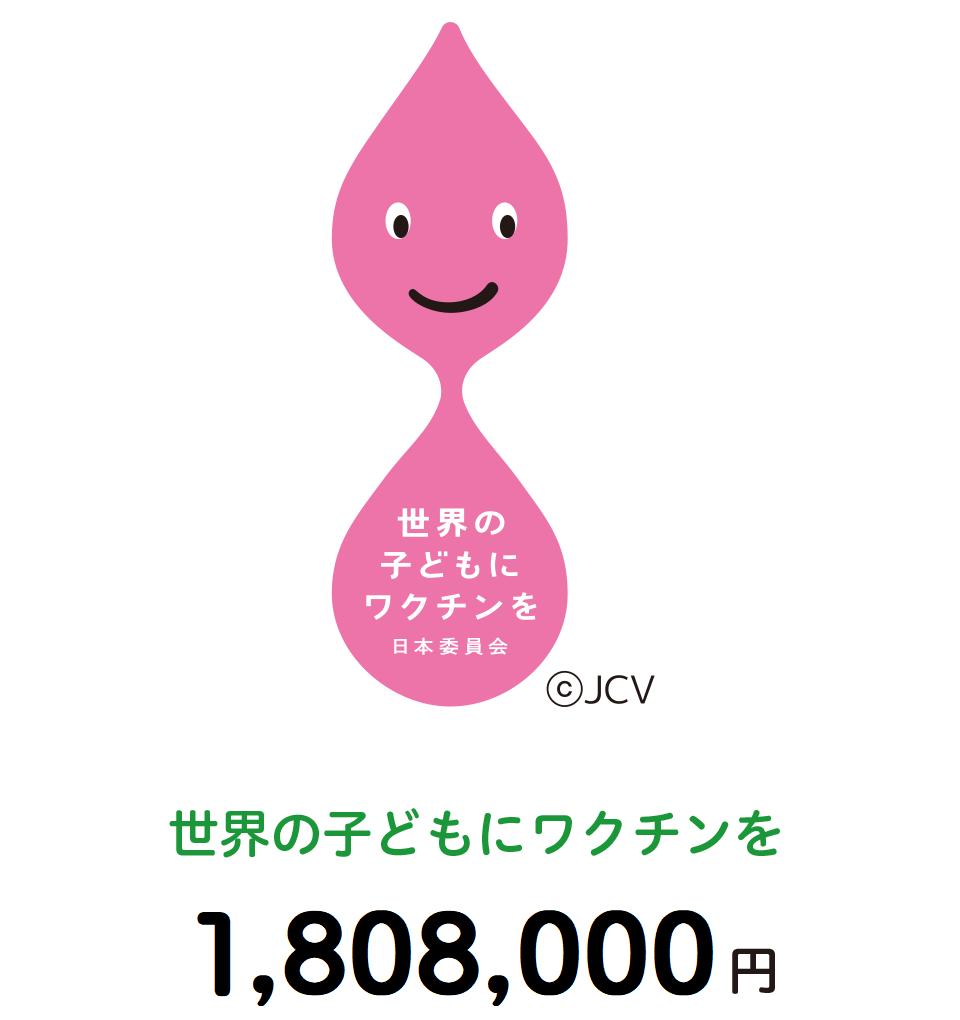 世界の子どもにワクチンを(1,808,000円)