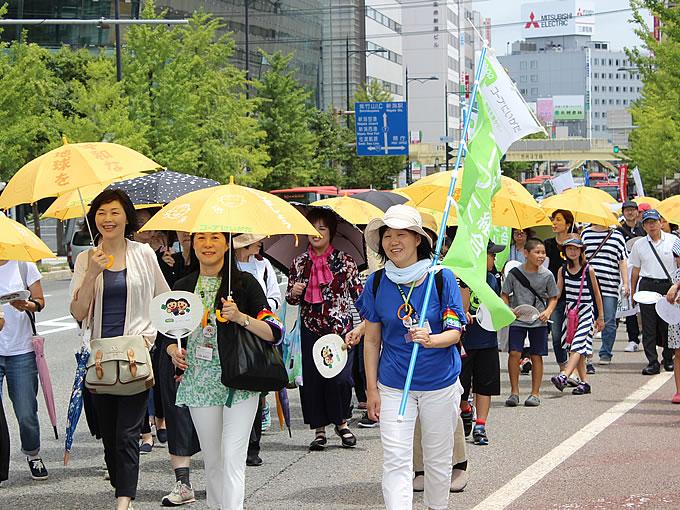 平和行進の写真