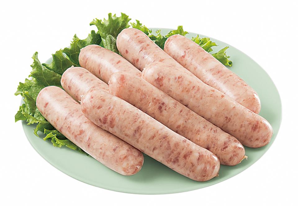産直お米育ち豚肉をつかった生ウインナーの写真