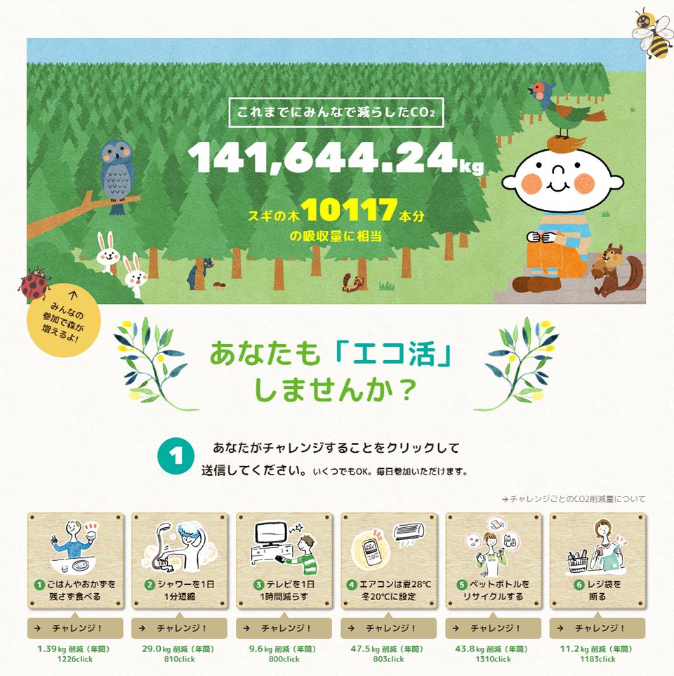 2017年度「エコ活!チャレンジ」サイトイメージ