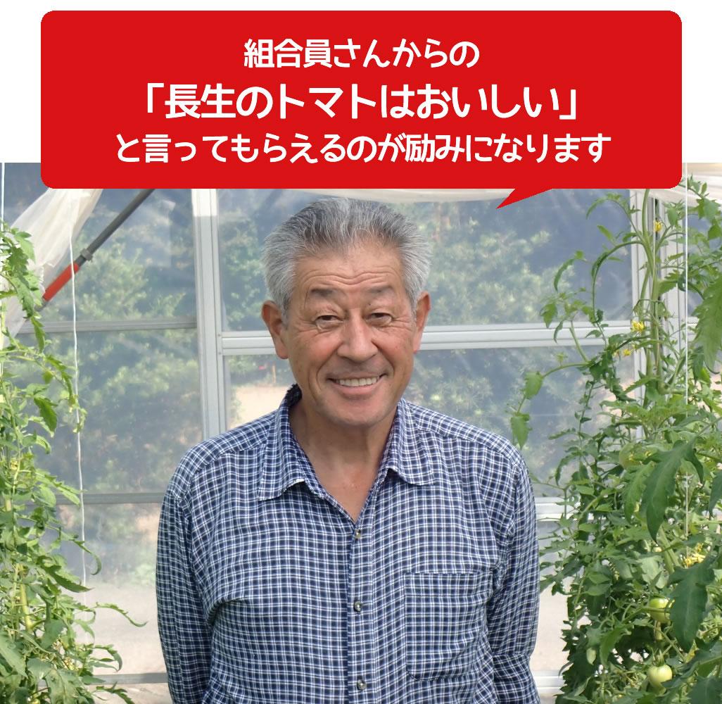 組合員さんからの「長生のトマトはおいしい」と言ってもらえるのが励みになります。