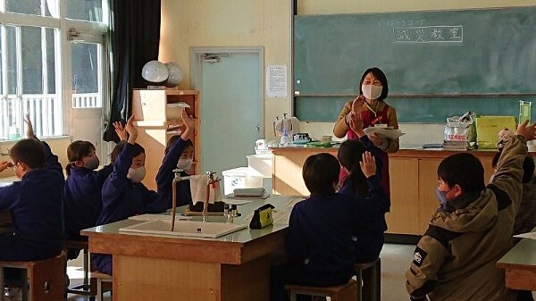 「減災教室」(鉾田市立旭北小学校)を開催しました