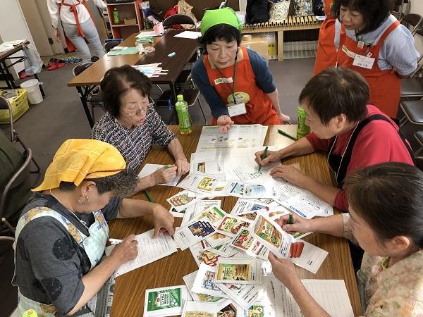 松戸市の高齢者向け通いの場にて、食育出前授業「日常食を非常食に~防災食クッキング~」を開催しました