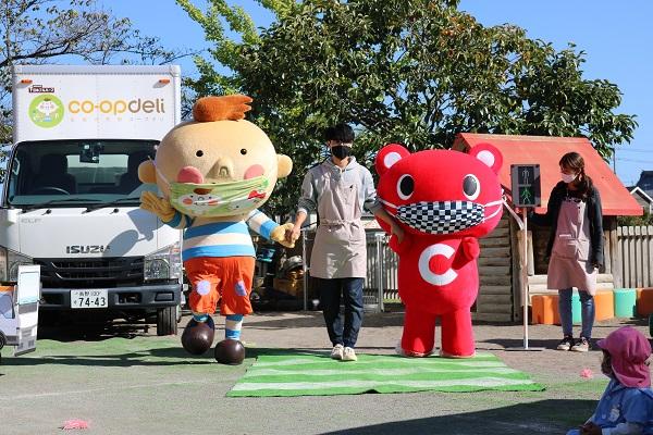 上田市の保育園で交通安全教室を開催しました