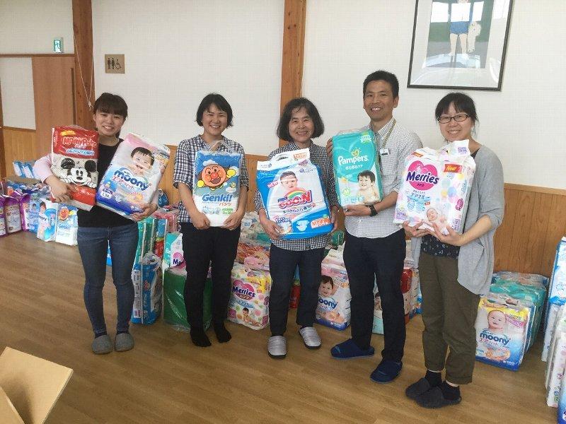 社会福祉法人同仁会さくらの森乳児院へ紙おむつを寄贈しました