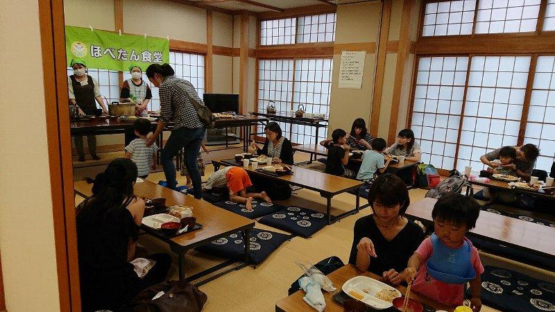 7月各地でほぺたん食堂が開催されました