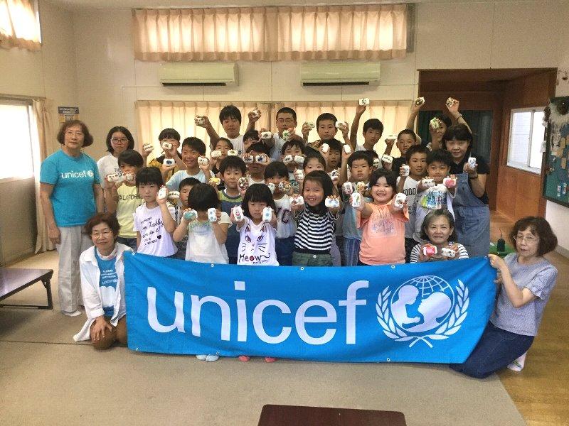 「ユニセフ教室」(那珂市木崎学童保育所)を開催しました