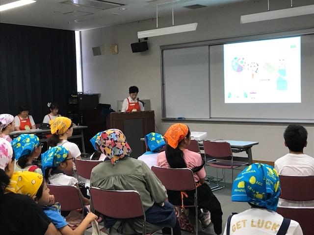 志木市で行われた親子食育授業で出前授業を実施しました