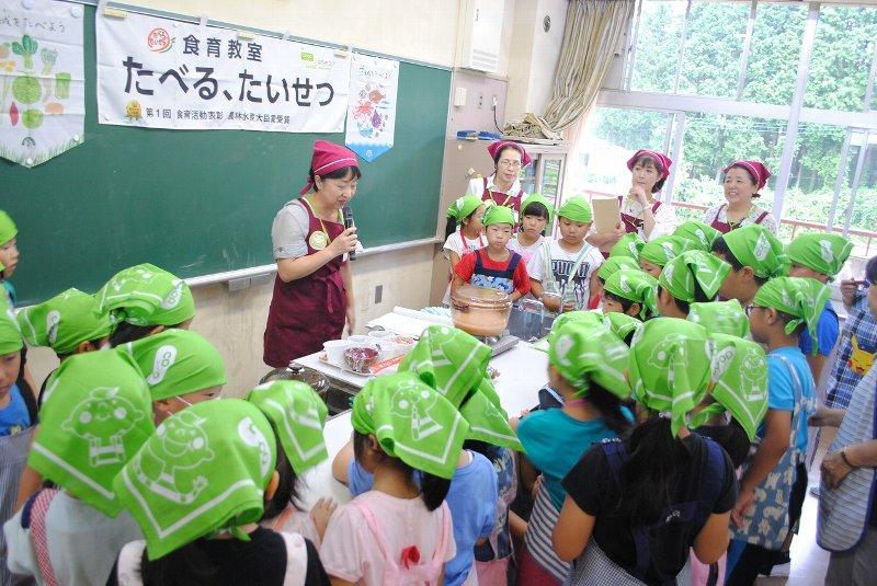 食育教室 たべる、たいせつ」(NPO法人なかよし学童保育の会みなみ学園児童クラブ)を開催しました