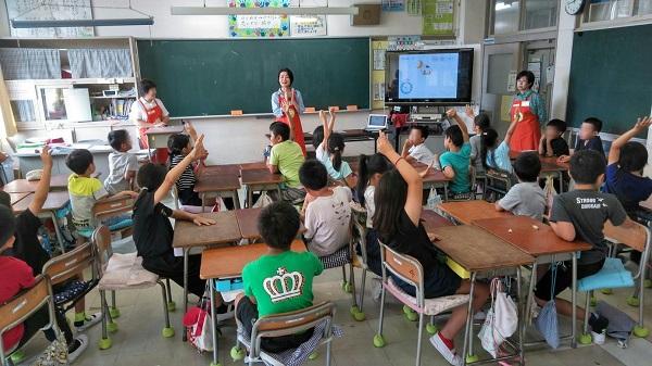 実花小学校にて、食育出前授業「早寝、早起き、朝ごはん」を実施しました